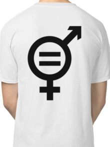 Equality - Merged Male and Female Gender Symbols Classic T-Shirt