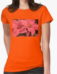 Christmas Greetings with a Vivacious Pink Poinsettia T-Shirt