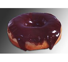 Chocolate Covered Donut Photographic Print