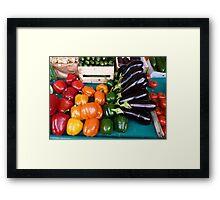 Marche vegetables, Edgar Quinet Framed Print