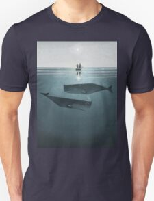 At sea. Unisex T-Shirt