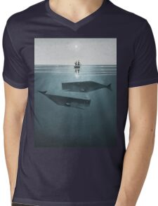 At sea. Mens V-Neck T-Shirt