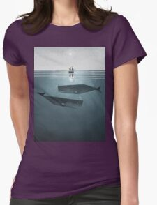 At sea. Womens Fitted T-Shirt