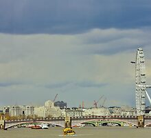 Westminster & The Eye From Waterloo Bridge by Matthew Floyd