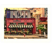 Outside Cafe Art Print