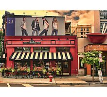 Outside Cafe Photographic Print