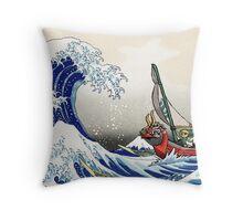 Legend of Zelda Great Wave Windwaker Throw Pillow
