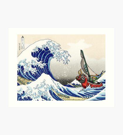 Legend of Zelda Great Wave Windwaker Art Print