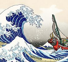 Legend of Zelda Great Wave Windwaker by knollgilbert