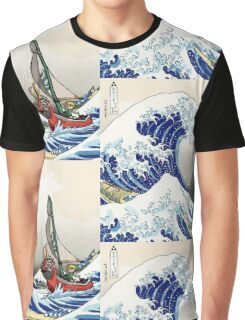 Legend of Zelda Great Wave Windwaker Graphic T-Shirt