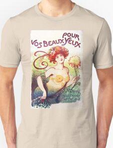 Art Nouveau Vos Beaux Pour Yeux illustration Unisex T-Shirt