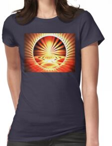 Mars Horizon Womens Fitted T-Shirt