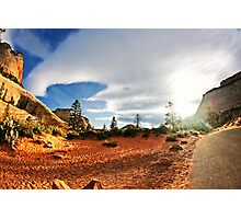 Canyon sunrise at Zion National Park in Utah. Photographic Print
