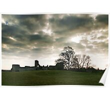 The Ghostly Pevensey Castle Poster