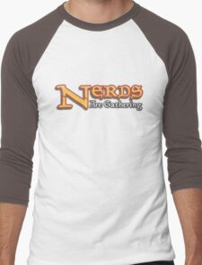 Nerds Are Gathering - Magic The Gathering MTG Spoof Men's Baseball ¾ T-Shirt