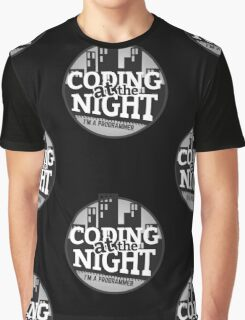 Programmer T-shirt : Coding at the night Graphic T-Shirt