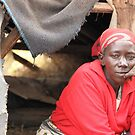 Ruth and her home-Kyang'ombe slum-kenya. by joshuatree2