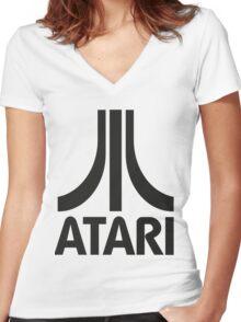 Atari Women's Fitted V-Neck T-Shirt
