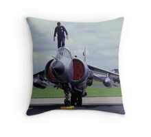 Harrier Ready for Action Throw Pillow