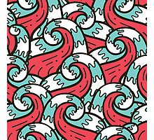 Crazy tangle doodle sea waves pattern Photographic Print