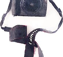 Camera in Watercolor | Trendy/Tumblr/Hipster Meme by Vrai Chic