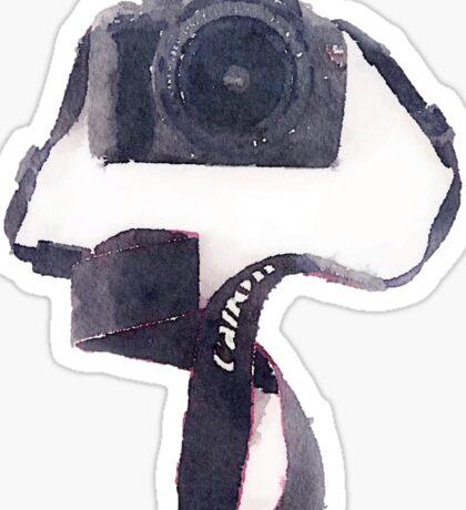 Camera in Watercolor | Trendy/Tumblr/Hipster Meme Sticker