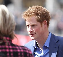 Prince Harry at The Virgin London Marathon by Keith Larby