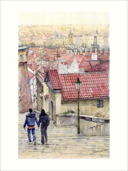 Prague Zamecky Schody Castle Steps by Yuriy Shevchuk