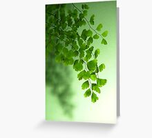 Green is the Colour Greeting Card