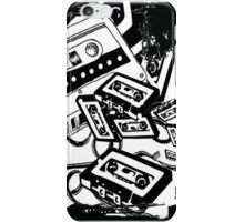 Retro Audio Tape (Black & White) iPhone Case/Skin