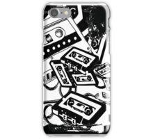 Retro Audio Tape (Black & White) iPhone Case/Skin
