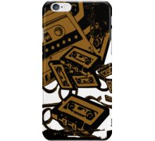 Retro Audio Tape (Sepia) iPhone Case/Skin