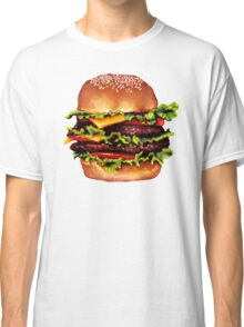 Double Cheeseburger 2 Pattern Classic T-Shirt