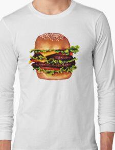 Double Cheeseburger 2 Pattern Long Sleeve T-Shirt