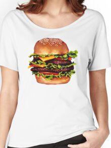 Double Cheeseburger 2 Pattern Women's Relaxed Fit T-Shirt
