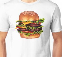 Double Cheeseburger 2 Pattern Unisex T-Shirt