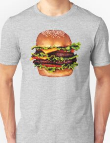 Double Cheeseburger 2 Pattern T-Shirt