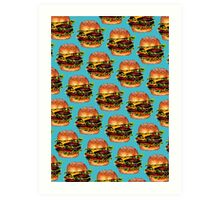 Double Cheeseburger 2 Pattern Art Print
