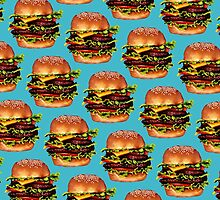 Double Cheeseburger 2 Pattern by Kelly  Gilleran