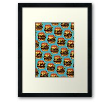 Double Cheeseburger 2 Pattern Framed Print