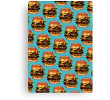 Double Cheeseburger 2 Pattern Canvas Print