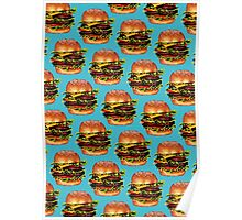 Double Cheeseburger 2 Pattern Poster