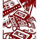 Retro Audio Tape (Wine) by Geckoface