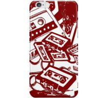 Retro Audio Tape (Wine) iPhone Case/Skin