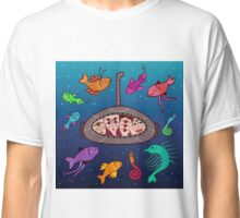 the curious submarine and surroundings Classic T-Shirt