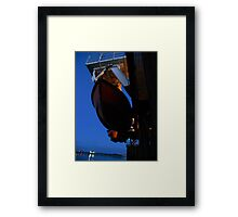 Lifeboat off Fleetwood Framed Print