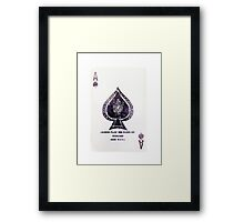 Play an Ace Watercolor | Trendy/Tumblr/Hipster Card Framed Print