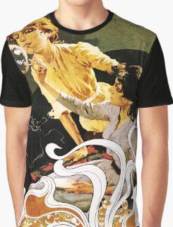 Italian Art Nouveau illustration of ladies blowing bubbles Graphic T-Shirt