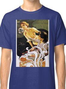 Italian Art Nouveau illustration of ladies blowing bubbles Classic T-Shirt