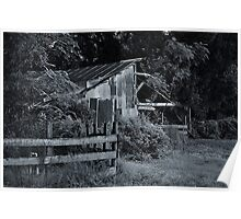 Old Barn with Fence Poster